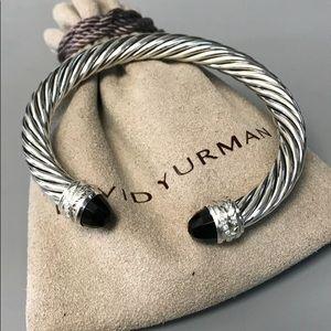 David Yurman Crossover Black Onyx Diamond Cuff